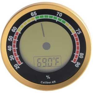 Hygrometer Cigar Oasis  Digitaal Gold