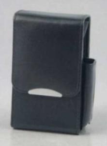 Sigarettenbox Zwart Leder voor pakje 20st 100mm SKS