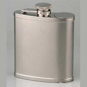 Flask mat staal met 2 bekers in de flacon  180 ml