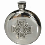 Flask Edeltin rond met Keltisch kruis 110ML