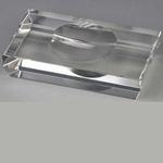 Asbak SG glas 2 leggers 18x10,5 cm